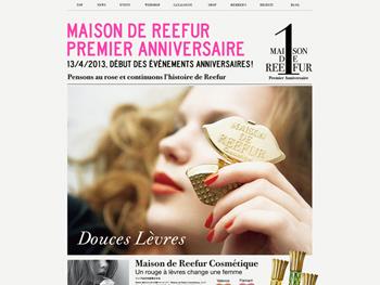 「Maison de Reefur」 ブランドサイトとアイテムのグラフィックを制作 http://www.maisondereefur.com/