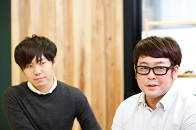 (左)企画・撮影担当 秋本 翼さん、(右)WEBディレクター 納谷 陽平さん