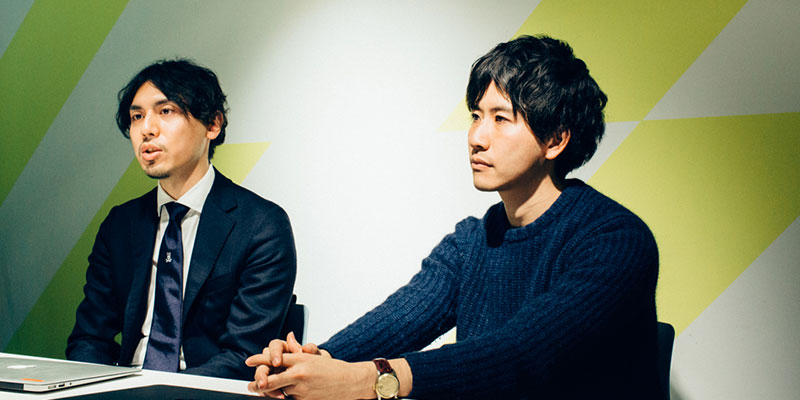 左:田中耕太さん(ストラテジックプラナー) / 右:山本恭裕さん(プロデューサー)