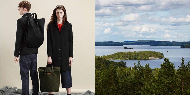 「Haagnees」は北欧のアイデンティティを強く持つブランド。タイムレスで、リュックとしてもバッグとしても両用できる。「Haagnees」Lookbookより。画像提供:ヨナス・ハカニエミ