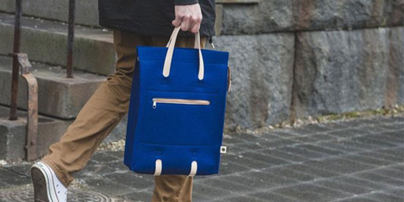 純100%の羊毛、フェルトの老舗「Lahtiset(ラハティセット)」の鞄シリーズは日本でも販売されている。画像提供:ヨナス・ハカニエミ