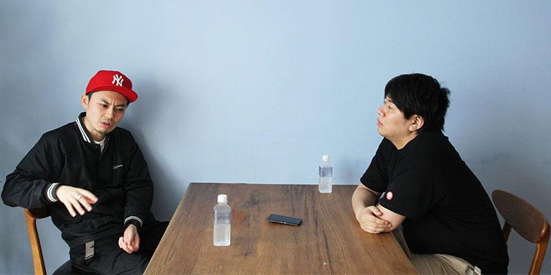 右:ノオト・朽木誠一郎さん、左:AbemaTV・恩納力さん