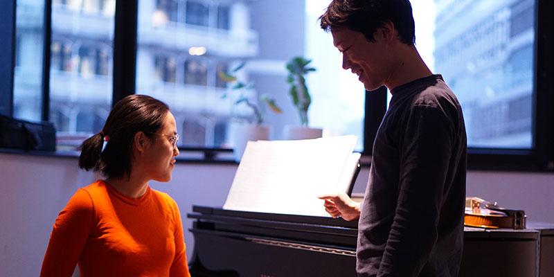 奥さんも音楽家でピアノニスト。後進の指導にもあたっている