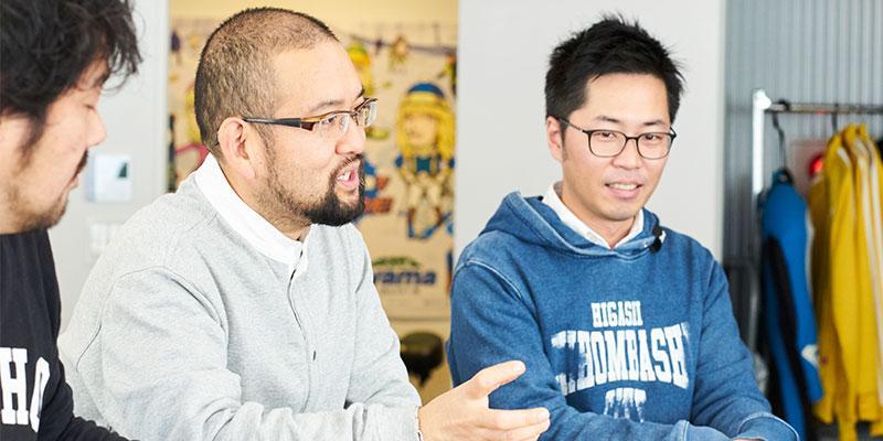 左:代表取締役COO 高橋靖幸さん / 右:ディレクター 矢代蔵人さん