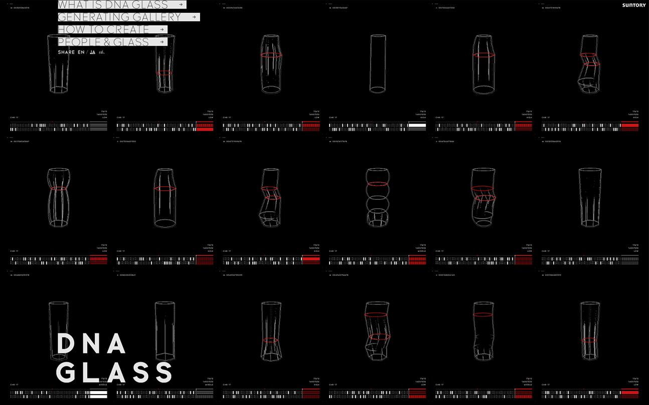 Suntory『DNA GLASS』