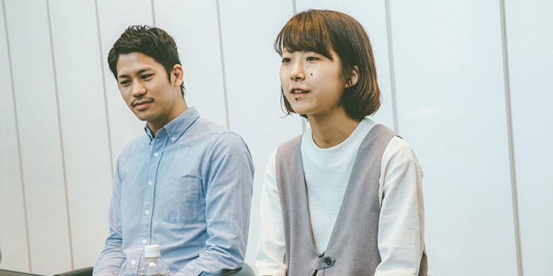 左:山内夏広 / 右:瀬川慧理