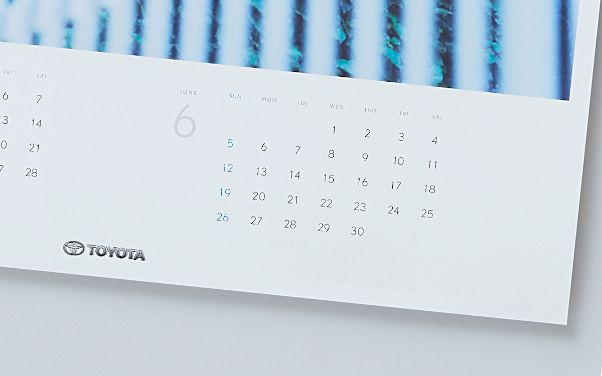 トヨタ自動車 / 2016年カレンダー