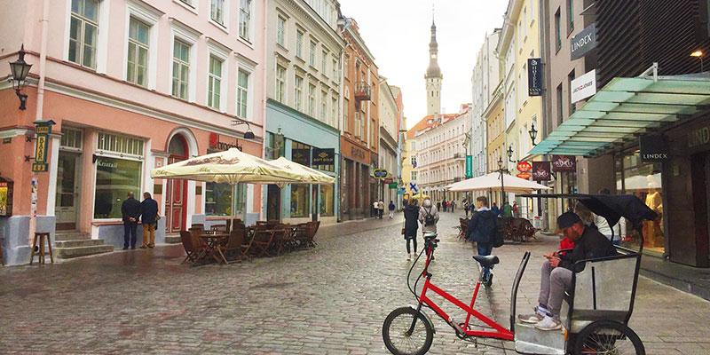 エストニア中心部にある旧市街地