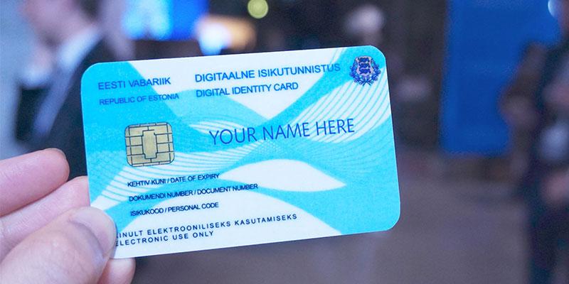 エストニアのIDカードサンプル