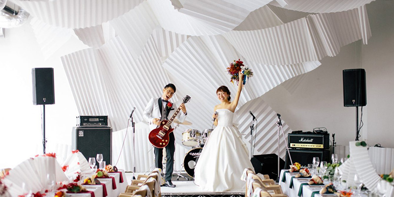 結婚式のコンセプトは「NON LIMIT」 / ウェディングプロデュース事業「CRAZY WEDDING」(画像提供:CRAZY)