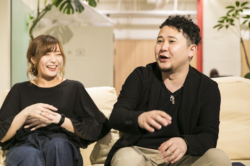 左:小松里紗さん / 右:坂田裕之さん