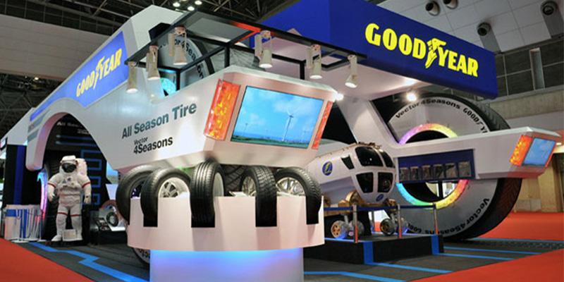 『東京モーターショー』におけるグッドイヤーのブース総合演出(画像提供:右脳事件)