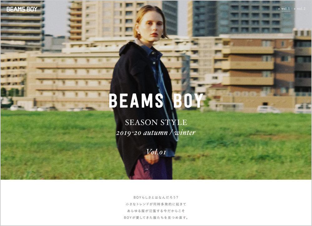 BEAMS BOY AUTUMN WINTER 2019-20